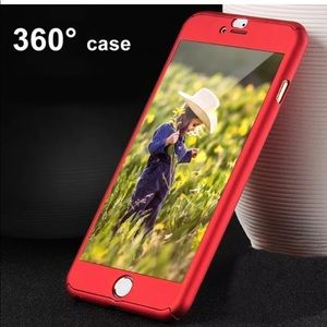 2 iPhone 7 360* CASES, Thin, Slim Cover, Tem Glass